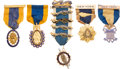 Military & Patriotic:Revolutionary War, American Revolution: Group of Related Gold Badges.... (Total: 5Items)