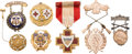 Militaria:Insignia, Gold Sharpshooting, Patriotic and Military-Related Badges....(Total: 7 Items)