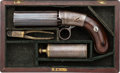 Handguns:Muzzle loading, Cased & Engraved Blunt and Syms Pepperbox PercussionRevolver....