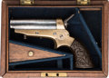 Handguns:Derringer, Palm, Cased Sharps Four Barrel Spur Trigger Derringer....