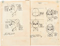 Animation Art:Production Drawing, Hoppity Goes to Town Model Sheet Bible Book (Max Fleischer, 1940)....