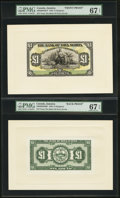 Canadian Currency: , Kingston, Jamaica- The Bank of Nova Scotia £1 Jan. 2, 1930 Ch. #550-38-04-02fp; bp Face and Back Proofs.. ... (Total: 2 notes)