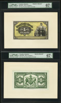 Canadian Currency: , Kingston, Jamaica- The Royal Bank of Canada £1 Jan. 3, 1938 Ch. #630-54-02fp; bp Face and Back Proofs.. ... (Total: 2 notes)