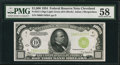 Small Size, Fr. 2211-D $1,000 1934 Light Green Seal Federal Reserve Note. PMG Choice About Unc 58.. ...