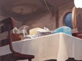 Animation Art:Painted cel background, Dog Watch Painted Background (Walt Disney, 1945)....