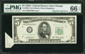 Error Notes:Foldovers, Fr. 1962-G $5 1950A Federal Reserve Note. PCGS Gem New 66PPQ.. ...