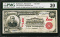 National Bank Notes:Maryland, Baltimore, MD - $10 1902 Red Seal Fr. 613 The Farmers &Merchants NB Ch. # (E)1337. ...