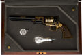 Handguns:Single Action Revolver, Cased US Historical Commemorative 1851 Navy Robert E. LeePercussion Revolver....