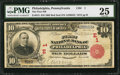 National Bank Notes:Pennsylvania, Philadelphia, PA - $10 1902 Red Seal Fr. 613 The First NB Ch. # (E)1. ...