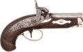 Handguns:Derringer, Palm, Philadelphia Derringer Percussion Single Shot Pistol....