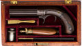 Handguns:Derringer, Palm, Cased Bacon & Co. Underhammer Pepperbox Percussion Revolver....