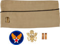 Military & Patriotic:WWII, Clark Gable's WWII Overseas Hat, Second Lieutenant's Insignia, Service Hat Insignia and Army Air Corps Winged Star Shoulder In...