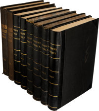 [Bound Periodicals]. Eight Bound Volumes of Harpers Weekly, Vol. IV, No. 209 - Vol. XII, No