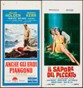 "Movie Posters:War, The Proud and Profane & Others Lot (Paramount, 1956). ItalianLocandinas (3) (13"" X 27.5""). War.. ... (Total: 3 Items)"