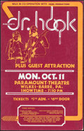"""Movie Posters:Rock and Roll, Dr. Hook at the Paramount Theatre & Other Lot (WILK/Fang,1970s). Concert Window Cards (2) (14"""" X 21.75"""" & 14"""" X 22.5"""").Roc... (Total: 2 Items)"""