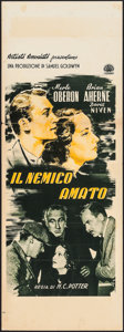 "Movie Posters:Drama, Beloved Enemy (United Artists, Late 1940s). First Post-War Release Italian Locandina (11.75"" X 31""). Drama.. ..."