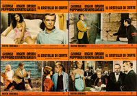 """House of Cards (Universal, 1968). Italian Photobusta Set of 4 (18.25"""" X 26.5""""). Thriller. ... (Total: 4 Items)"""