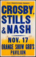 """Movie Posters:Rock and Roll, Crosby, Stills & Nash at the Orange Show Grd's Pavilion &Other Lot(1970s-1980s). Concert Window Cards (2) (14"""" X 22"""" &14"""" ... (Total: 2 Items)"""