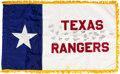 Western Expansion:Cowboy, Texas Rangers Signed Flag....