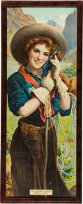 "Miscellaneous:Ephemera, Hopkins & Allen ""Prairie Girl"" Chromolithograph AdvertisingPoster, Circa 1910...."