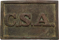 "Civil War Confederate ""C.S.A."" Virginia Style Belt Plate"