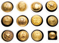 Militaria:Uniforms, Civil War: Lot of 12 Confederate Uniform Buttons.... (Total: 12Items)