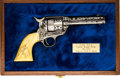 Handguns:Single Action Revolver, Cased D.W. Harris Engraved Colt Single Action Army Revolver....