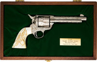 Cased & Engraved Colt Single Action Army Revolver with Letter