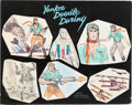 Animation Art:Concept Art, Alex Toth and Tony Sgroi Yankee Doodle Daring MainCharacters Concept Art Group of 2 (Hanna-Barbera, 1966)....