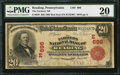 National Bank Notes:Pennsylvania, Reading, PA - $20 1902 Red Seal Fr. 639 The Farmers NB Ch. #(E)696. ...