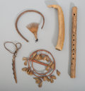 American Indian Art:Pipes, Tools, and Weapons, Six Ethnographic Items... (Total: 6 )