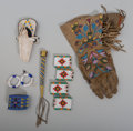 American Indian Art:Beadwork and Quillwork, A Box Lot of Beaded Items... (Total: 27 Items)