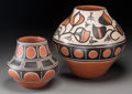 American Indian Art, Two Santo Domingo Polychrome Jars. Robert Tenorio and PaulitaPacheco. c. 2000... (Total: 2 Items)