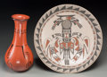 American Indian Art:Pottery, Two Southwest Pottery Items. Barbara Johnson and Martha MartinezDominguez... (Total: 2 Items)