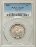 Coins of Hawaii , 1883 25C Hawaii Quarter MS65+ PCGS. PCGS Population: (188/135 and8/7+). NGC Census: (152/127 and 1/0+). CDN: $500 Whsle. B...