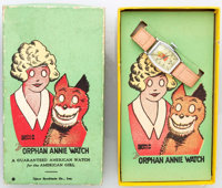 Little Orphan Annie Watch, Original Box, and Insert (New Haven Clock and Watch Co., 1940)