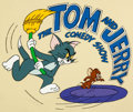 Animation Art:Production Cel, The Tom and Jerry Comedy Show Title Cel (Filmation,1980)....