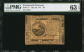 Continental Currency May 10, 1775 $6 PMG Choice Uncirculated 63 EPQ