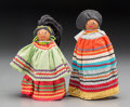 American Indian Art:Beadwork and Quillwork, Two Seminole Dolls... (Total: 2 Items)