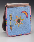 American Indian Art:Beadwork and Quillwork, A Plateau Beaded Leather Belt Pouch. c. 1900...
