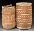 American Indian Art:Baskets, Two Large Plateau Twined Root Bags. c. 1920. ... (Total: 2 Items)