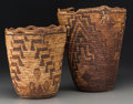 American Indian Art:Baskets, Two Plateau Imbricated Baskets. c. 1900 - 1930... (Total: 2 Items)