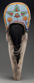 American Indian Art:Beadwork and Quillwork, A Plateau Beaded Hide Cradleboard. c. 1890...