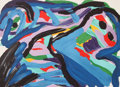 Prints, Karel Appel (Dutch, 1921-2006). Floating in a Landscape, 1979. Lithograph in colors on Arches paper. 21-1/2 x 29-1/2 inc...