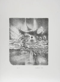 Lee Bontecou (American, b. 1931) Untitled, from the Women's Portfolio, 1990 Etching on Ar