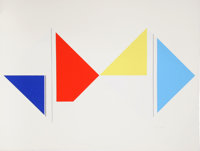 Ilya Bolotowsky (American, 1907-1981) Series 5 and Series 7 (two works), circa 1970 Scree