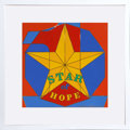 Post-War & Contemporary:Pop, Robert Indiana (American, b. 1928). Star of Hope, 1972.Enamel on metal. 12 x 12 inches (30.5 x 30.5 cm). Stamped signat...