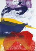 Prints, Paul Jenkins (American, 1923-2012). Untitled, 1987. Lithograph in colors. 41 x 30 inches (104.1 x 76.2 cm). Ed. 30/60. S...
