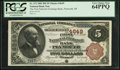 National Bank Notes:Michigan, Plymouth, MI - $5 1882 Brown Back Fr. 472 The First National Exchange Bank Ch. # 4649. ...