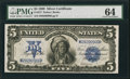 Large Size:Silver Certificates, Fr. 277 $5 1899 Silver Certificate PMG Choice Uncirculated 64.. ...